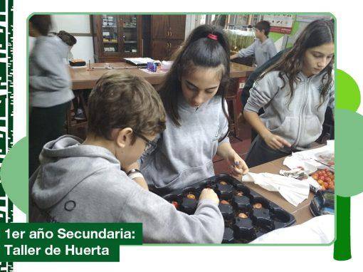 2019: 1er año de Secundaria en el Taller de Huerta