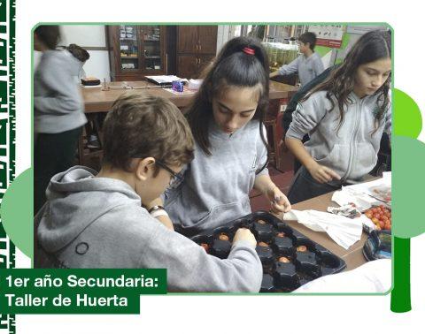 Mayo 2019: 1er año de Secundaria en el Taller de Huerta
