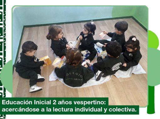 2019: Educación inicial 2 años vespertino se acercan a la lectura individual y colectiva