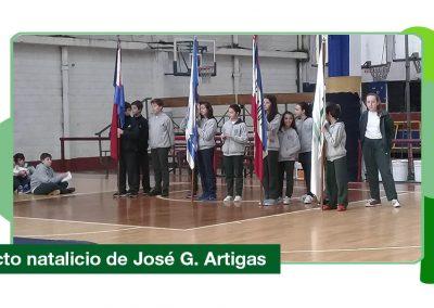2019: Acto conmemorativo del natalicio de José Artigas.
