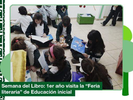 2019: 1er año visita feria literiara en Educación Inicial