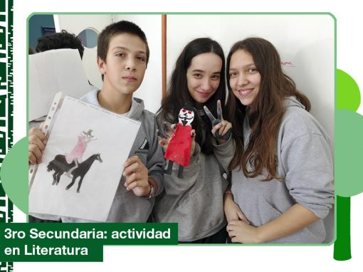 2019: actividad de literatura de 3ro de Secundaria.