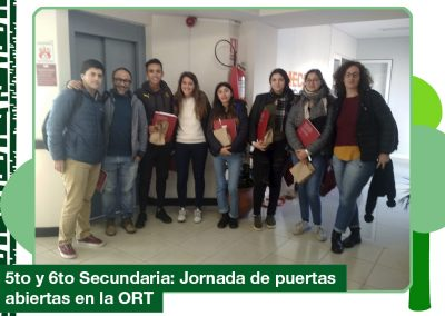 2019: 5to y 6to Secundaria concurrieron a la ORT
