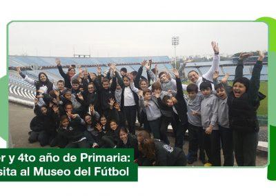 2019: 3er y 4to año de Primaria visitaron el Museo del fútbol