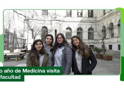 2019: 6to año de Medicina visita la facultad