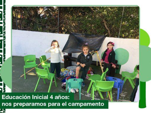 2019: Educación Inicial Nivel 4 años se prepara para ir de campamento.