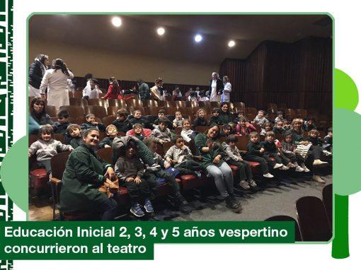2019: Ed. Inicial 2, 3, 4 y 5 años (vespertino) concurrieron al teatro.