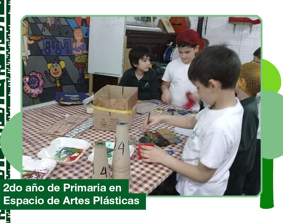 2019: 2do año de Primaria en el Espacio de Artes Plásticas.