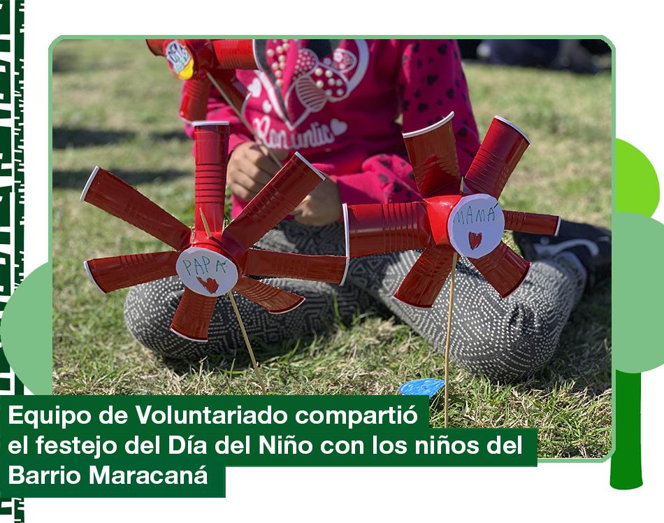 Equipo de Voluntariado: Día del Niño en el Barrio Maracaná con la Fundación Brazos Abiertos.
