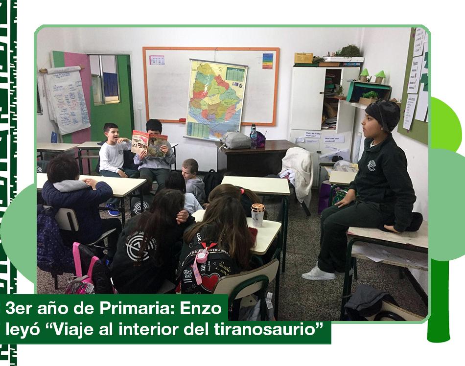 2019: Enzo lee «Viaje al interior del tiranosaurio»