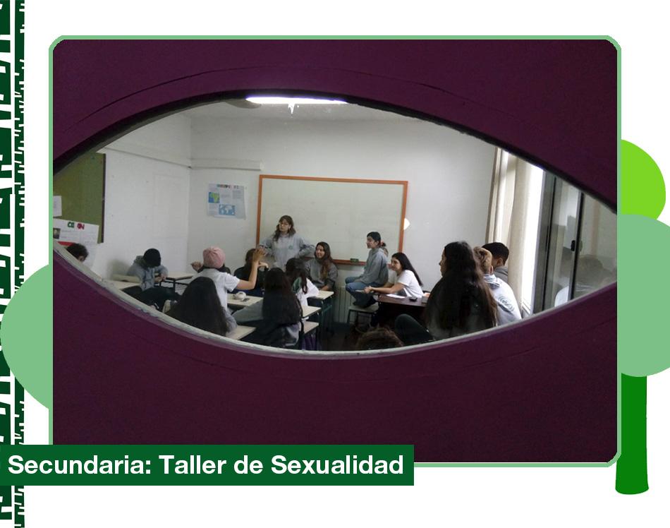 2do año de Secundaria: taller de sexualidad.