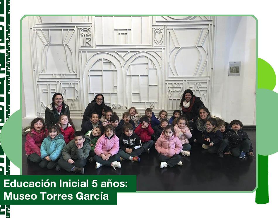 2019: Nivel 5 años visitó el Museo Joaquín Torres García.