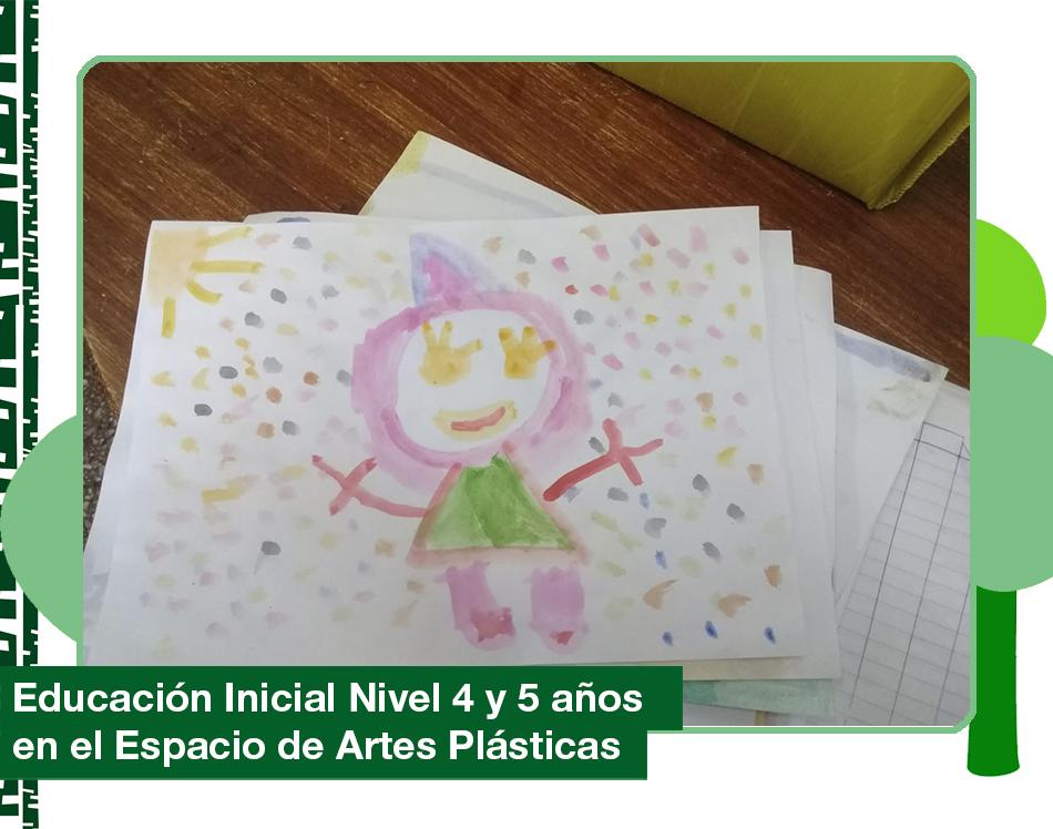 2019: Nivel 4 y 5 años en el Espacio de Artes Plásticas.