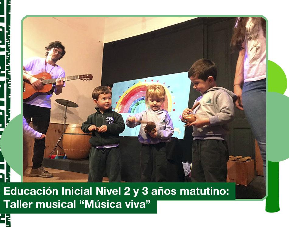 2019: Taller «Música viva» Educación Inicial 2 y 3 años turno matutino.