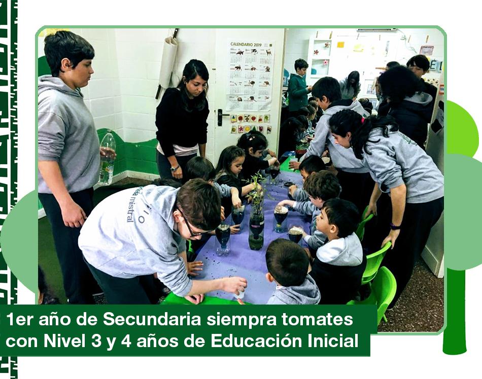 2019: 1ro de Secundaria con Educación Inicial en el Taller de huerta orgánica