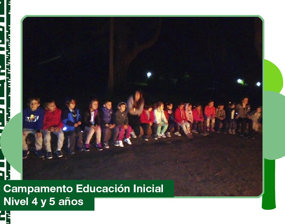 2019: Campamento Educación Inicial Nivel 4 y 5 años.