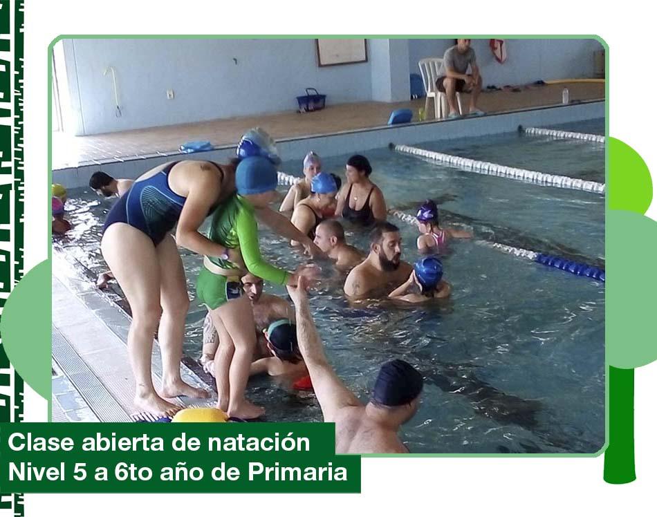 2019: Clases abiertas de natación.