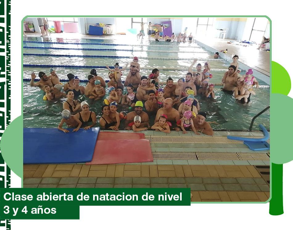 2019: Clase abierta de natación de nivel 3 y 4 años