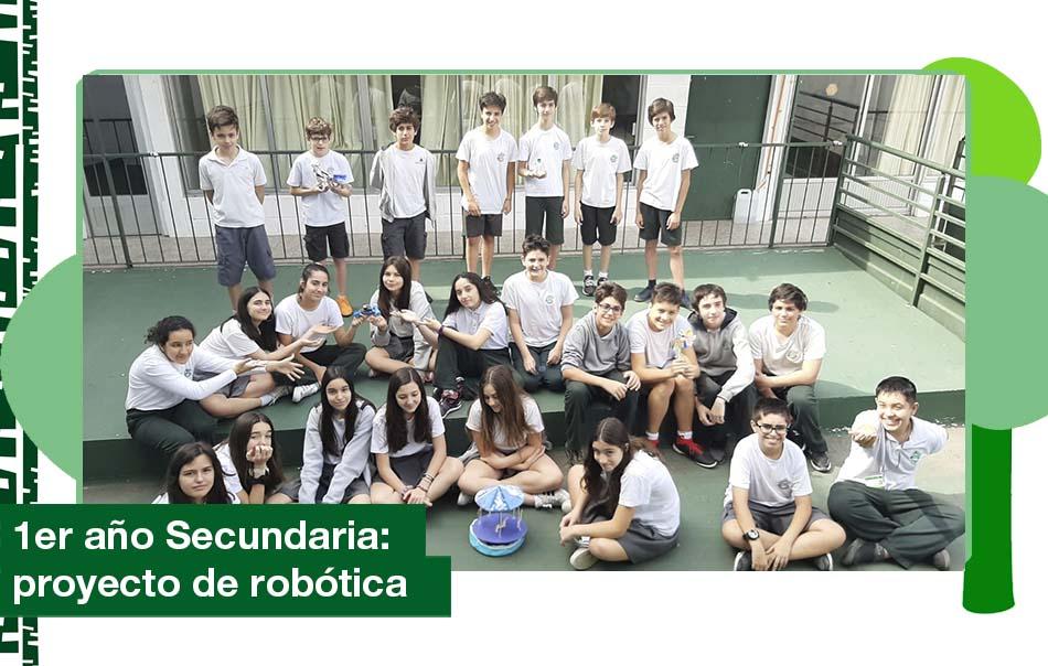 2019: 1er año de Secundaria, proyecto de robótica.