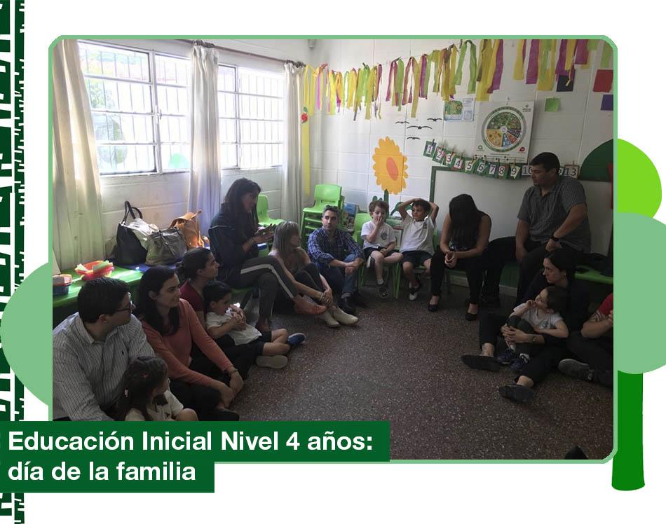2019: Educación Inicial Nivel 4 años, día de la familia