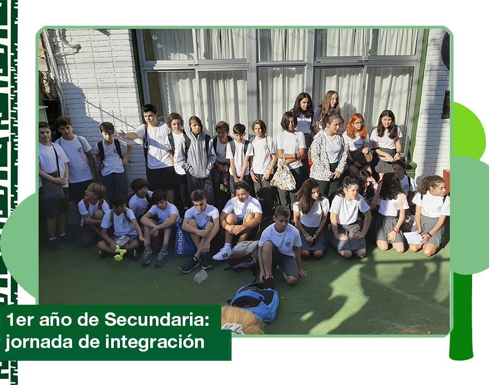 2020: 1ro de Secundaria en la jornada de integración.