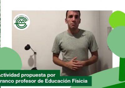2020: Actividad propuesta por Franco el profesor de Educación Física