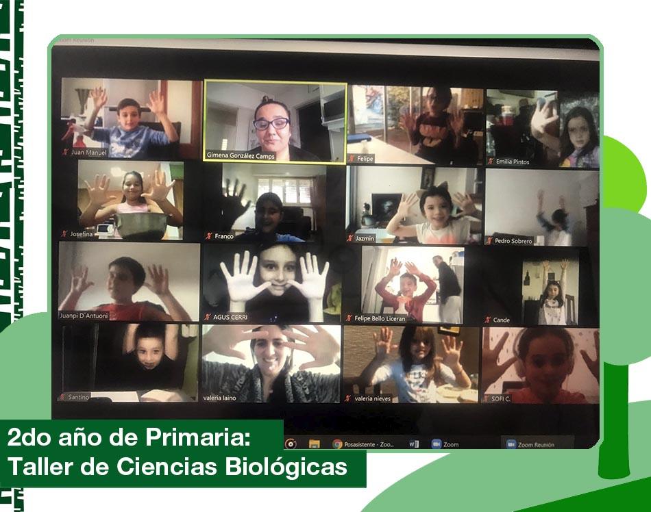2020: 2do año de Primaria trabajando en el Taller de Ciencias Biológicas.