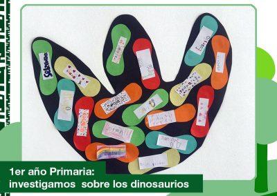 2020: 1er año de Primaria investigó sobre los dinosaurios.