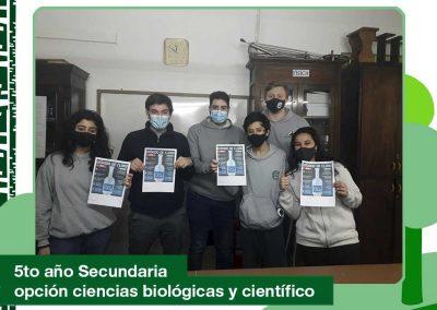 2020: 5to año de Secundaria -opción ciencias biológicas y científico.