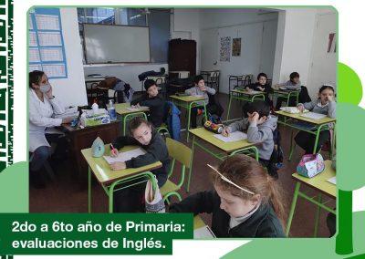 2020: evaluaciones de Inglés en Primaria