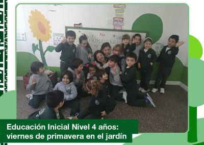 Educación Inicial Nivel 4 años: viernes de primavera en el jardín