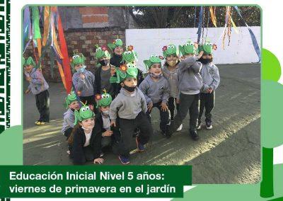 Educación Inicial Nivel 5 años: viernes de primavera en el jardín.