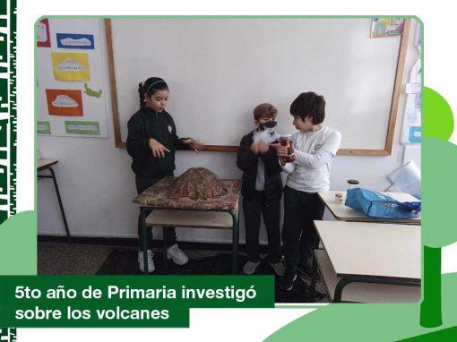 2020: 5to año Primaria investigó sobre los volcanes.