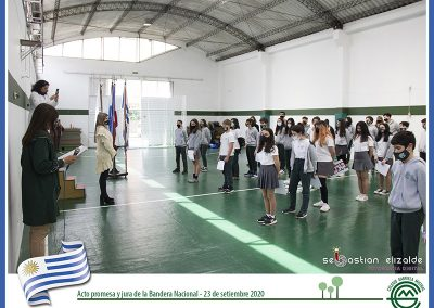 Acto promesa y juramento de la Bandera Nacional.