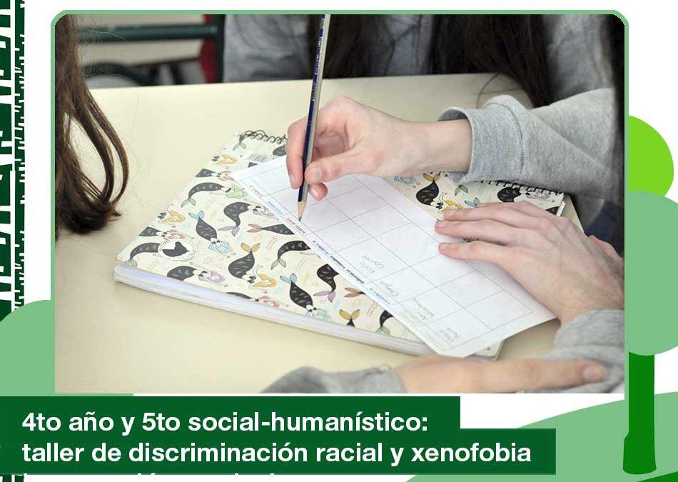 2020: Taller de discriminación racial y xenofobia