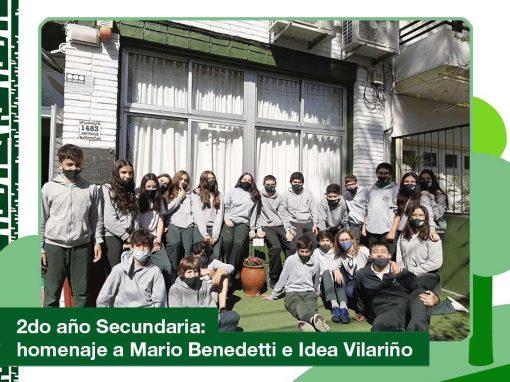 2020: 2do año de Secundaria. Homenaje a Mario Benedetti e Idea Vilariño.