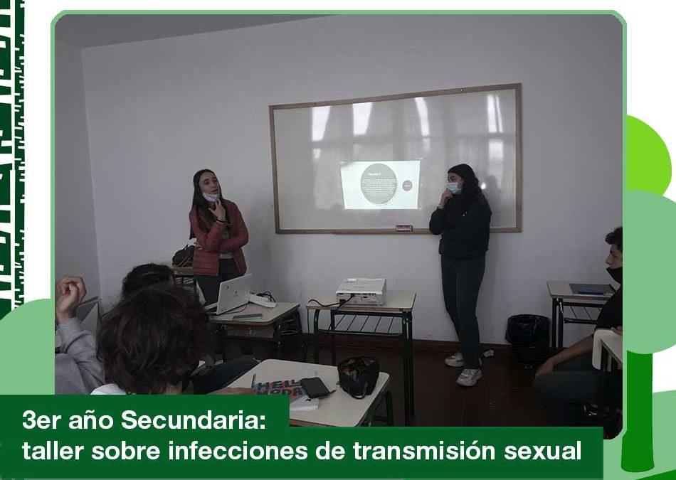 2020: 3er año de Secundaria en el taller sobre infecciones de transmisión sexual.