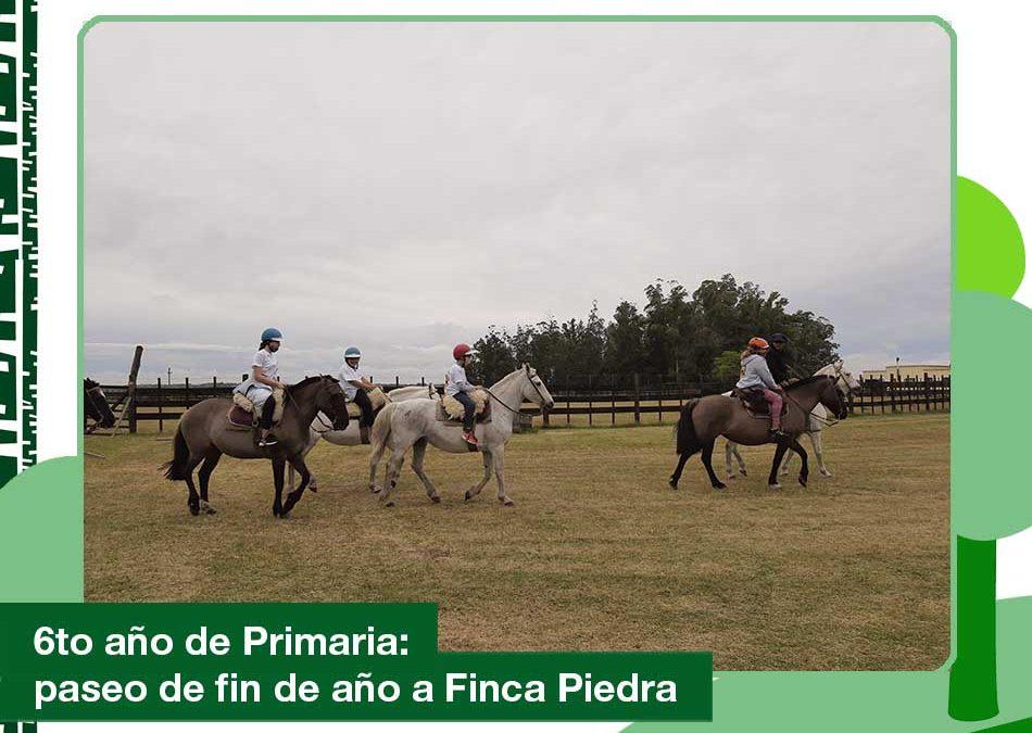 2020: viaje de fin de año de Primaria en Finca Piedra