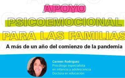 Webinar sobre apoyo psicoemocional para las familias.