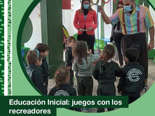 2021. Educación Inicial: juegos y diversión con los recreadores del Colegio.