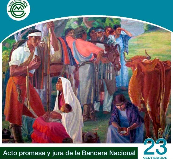 Este 23 de septiembre realizamos el acto de jura y promesa a la Bandera Nacional.