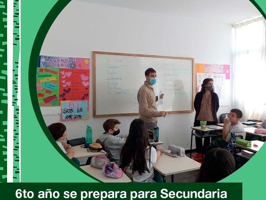 2021. Actividad conjunta del departarmento de psicología, adscripto, maestra y teacher con alumnos de 6to año de Primaria.